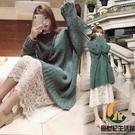 大碼女裝寬鬆毛衣連身裙兩件套【創世紀生活館】