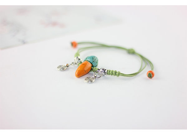 Star 陶藝系列 -可愛胡蘿蔔手鏈-C30