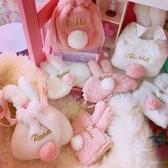 定制日系原宿粉嫩少女學生可愛卡通兔耳朵包衛生巾衛生棉收納包袋 居享優品