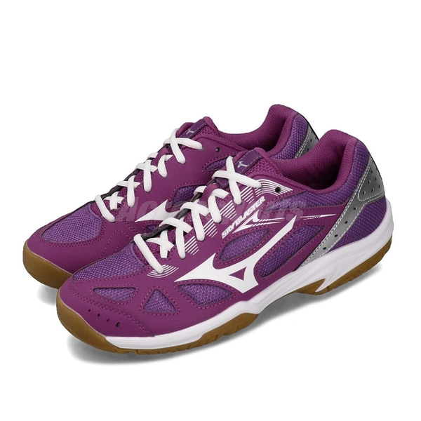 Mizuno 羽球鞋 Sky Blaster 紫 白 女鞋 膠底 低筒 運動鞋 【PUMP306】 71GA1945-67