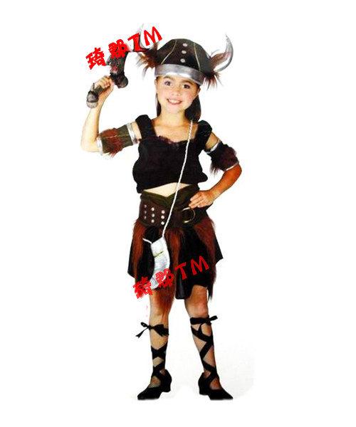 萬聖節 牛魔王服裝  印第安人衣服 可愛兒童
