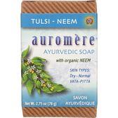 Auromere阿育吠陀羅勒印楝香皂78g 12盒[買十送二]