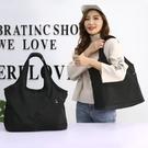 防水尼龍側背帆布包女大包包2021新款簡約大容量牛津布時尚手提包 韓國時尚週