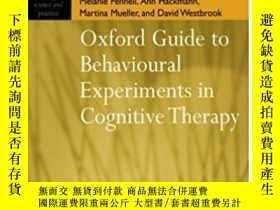 二手書博民逛書店Oxford罕見Guide To Behavioural Experiments In Cognitive The