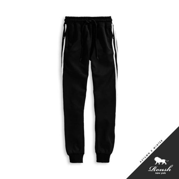 【Roush】側邊線條設計運動棉褲 - 【825078】