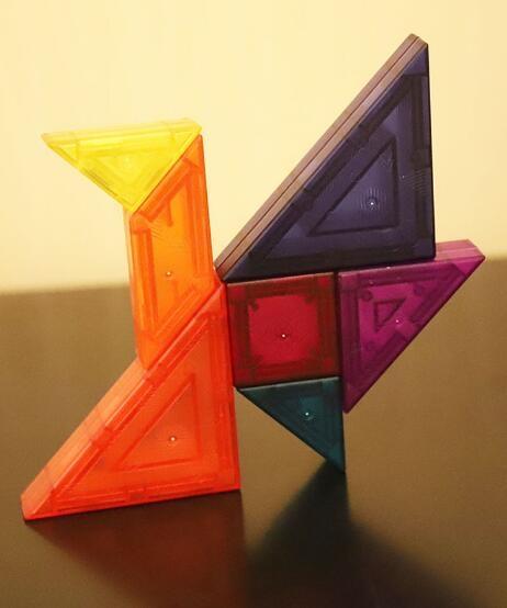 加厚磁性七巧板拼圖拼板積木
