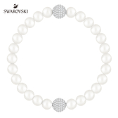 施華洛世奇 Remix Collection White Crystal Pearl 時尚百搭鍍白金色飾鏈