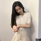 polo衫 2020夏季新款韓版網紅冰絲針織衫短袖t恤女ins短款polo衫打底上衣