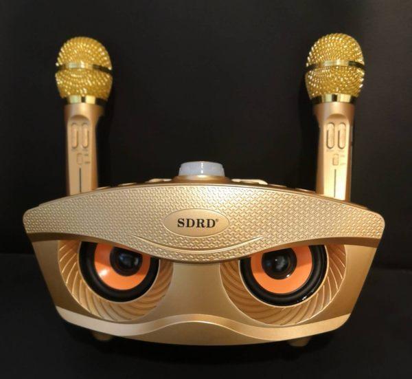 貓頭鷹音箱喇叭  家庭式KTV對唱 卡拉ok  重低音 無線麥克風