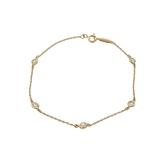 Tiffany & Co 蒂芬妮 ELSA PERETTI™系列Diamonds by the Yard™ 鑲五顆鑽18K黃金手鍊