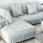 歐式沙發墊布藝坐墊防滑墊四季通用沙發防滑坐墊套裝 麻吉部落