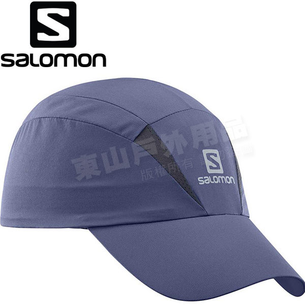 Salomon 394945方礦藍 中性款快乾防曬遮陽帽 登山機能棒球帽/運動便帽/健行抗UV鴨舌帽