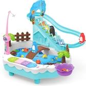 童勵磁性釣魚玩具池套裝兒童寶寶1-3歲女孩益智男孩小企鵝爬樓梯