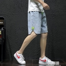 牛仔短褲男系帶寬鬆夏天薄款男士中褲日系加大碼胖子潮牌五分褲男 3C優購
