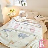 毛毯被子冬季加厚珊瑚絨小毯子法蘭絨墊床單人【匯美優品】