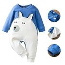 連身衣 童裝 可愛白熊純棉長袖包屁衣 長袖連身衣 童衣-JoyBaby