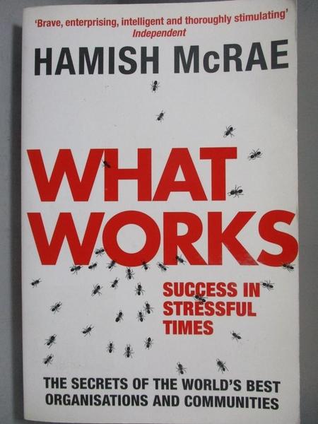 【書寶二手書T3/財經企管_NPD】What Works-Success in Stressful Times_McRa