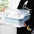 瀝水置物架裝碗筷收納盒臺面碗柜帶蓋【創世紀生活館】