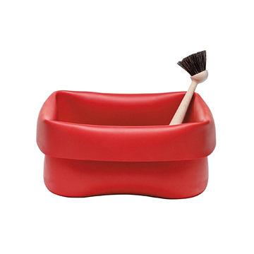 丹麥 Normann Copenhagen Washing Up Bowl & Brush 方形清潔槽 / 毛刷 套組(紅色)