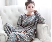 睡衣秋冬季法蘭絨睡衣女士毛絨加厚保暖長袖珊瑚絨套裝韓版可愛家居服 芊惠衣屋