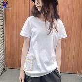 【春夏新品】American Bluedeer - 刺繡口袋上衣 二色 春夏新款