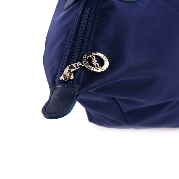 【LONGCHAMP】M號長把厚款尼龍肩背包Le Pliage Neo(海軍藍)1899578556