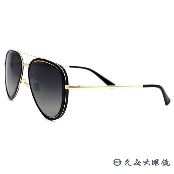 HELEN KELLER 林志玲代言 H8756 N21 (黑-金) 飛官款 太陽眼鏡 久必大眼鏡
