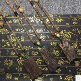 複古懷舊佛珠毛衣鏈雞翅木項鏈男女裝飾Dhh342【潘小丫女鞋】