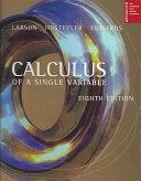 二手書博民逛書店 《Calculus of a Single Variable》 R2Y ISBN:061850303X│Cengage Learning