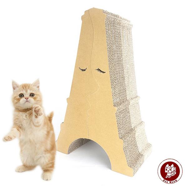 #TP Box Meow 瓦楞貓抓板-巴黎鐵塔 (CS034)