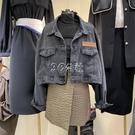 春夏款純色韓版百搭氣質春季新款設計感長袖女牛仔外套女