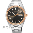 SEIKO 精工 CS城市日曆手錶-深咖