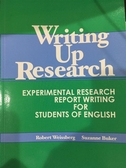 書Writing up research experimental research report writing for s