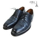 【巴黎站二手名牌專賣店】*現貨*a.testoni 真品*深藍色尖頭男仕皮鞋/紳士鞋(5號)
