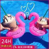 梨卡★現貨 - 絕美天鵝造型飲料杯手機座游泳圈/一組2入 - 另售鵝彩虹馬浮板M073