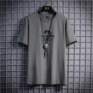 冰絲短袖t恤男士2021夏季新款韓版潮流ins潮牌寬鬆半袖體恤上衣服【快速出貨】