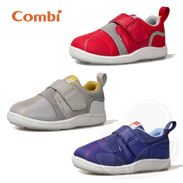 Combi 康貝 NICEWALK 醫學級成長機能鞋A01-紅/灰/藍【佳兒園婦幼館】
