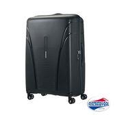 AT美國旅行者 28吋Skytracer飛機輪硬殼嵌合式TSA行李箱(暗灰黑)
