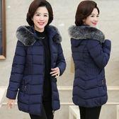 媽媽棉襖女冬裝中老年棉服外套40歲50中長款加厚顯瘦棉衣保暖上衣