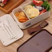 日式便當盒飯盒微波爐分格女生可愛大午餐盒學生成人便攜保溫單層 焦糖布丁