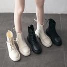 瘦瘦靴子女英倫風秋冬新款百搭馬丁靴顯腳小的襪靴小個子機車短靴 雙11提前購