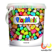 【德國 Playmais】玩玉米創意黏土超值桶 (1000顆) BCPL0003