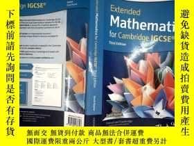二手書博民逛書店Extended罕見mathematics for cambridge IGCSEY253683 OXFORD