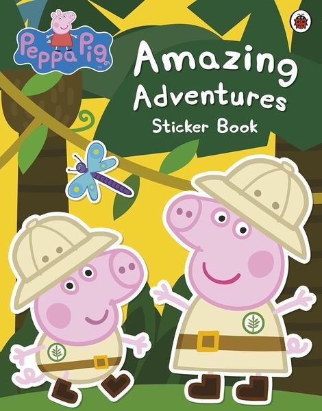 【佩佩豬】PEPPA PIG:AMZAING ADVENTURES /貼紙書