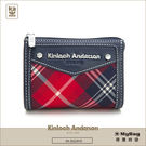 Kinloch Anderson 金安德森 皮夾 英式學院 紅/藍 經典格紋布女夾 零錢包  KA151208  MyBag得意時袋