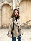 風衣  女新款休閑韓版小個子卡其色風衣  短款百搭短外套