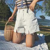 韓版百搭牛仔超短褲高腰a字寬鬆顯瘦闊腿熱褲女學生    琉璃美衣