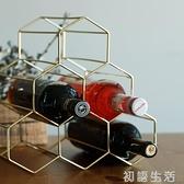 妙HOME北歐金屬紅酒架擺件創意葡萄酒架子家用客廳酒櫃展示架簡約 中秋節全館免運
