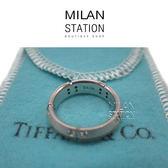 【台中米蘭站】TIFFANY 750 白K點鑽拼接戒指#48