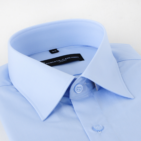 ROBERTA DI CAMERINO 諾貝達長袖襯衫-藍(合身版)